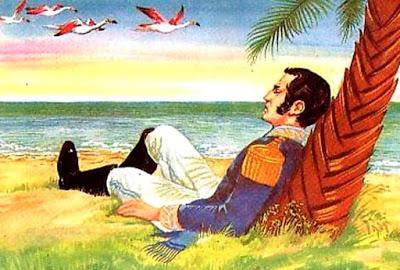 Dibujo del Sueño de Don José de San Martín