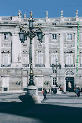Facade, the Royal Palace, Madrid, Spain
