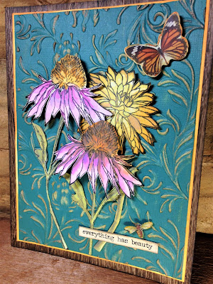Sara Emily Barker http://sarascloset1.blogspot.com/ Everything Has Beauty card #timholtz #stampersanonymous #sizzix3dembossing #distressoxide 1