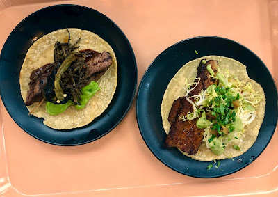Carne asada & al pastor tacos at Lola 55