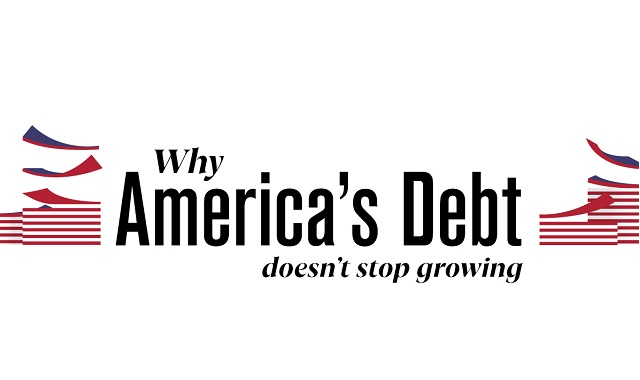 America's debt is growing continuously
