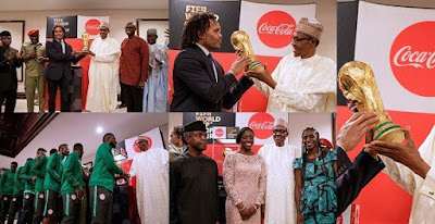 President Buhari receives original FIFA World Cup Trophy In Abuja