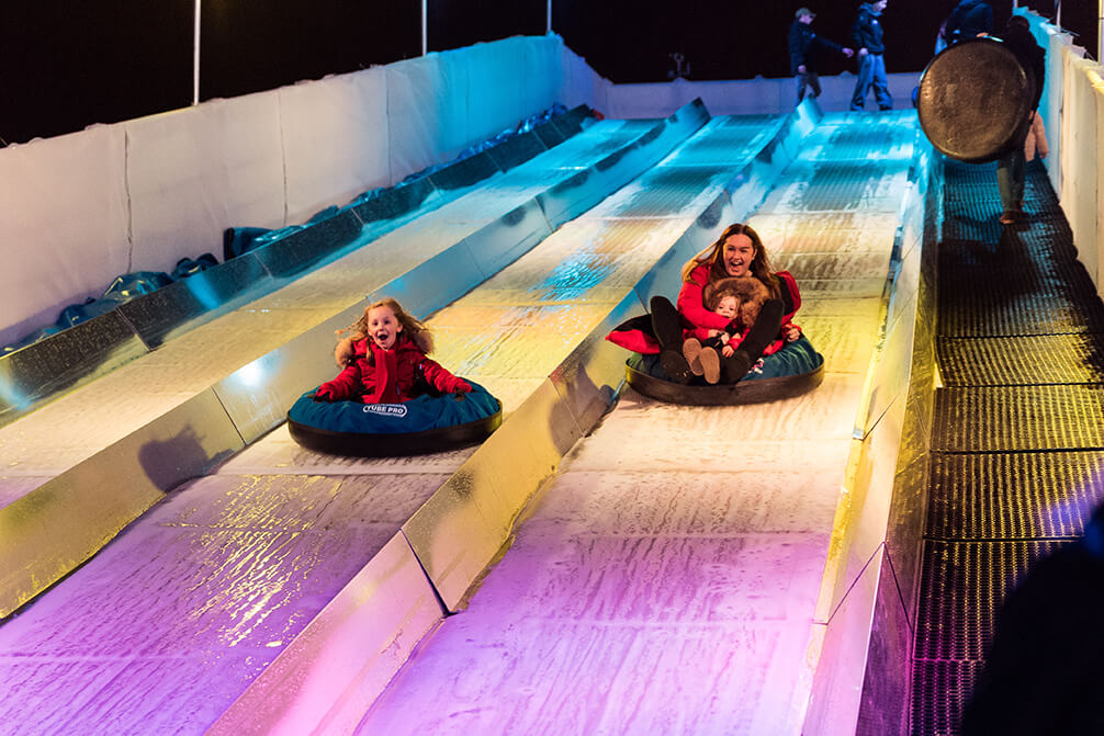 A Guide to Visiting Liverpool Christmas Markets & Lights  - Liverpool Ice Festival Ice Slide