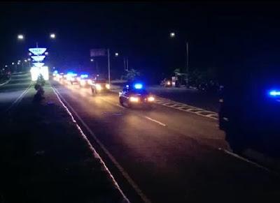 Patroli Blue Light Berskala Besar di Kota Mataram