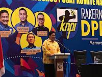 Di Hadapan Ketum Airlangga, Haris Pertama KNPI Kembali Tegaskan Siap Kawal Pelantikan Presiden Jokowi