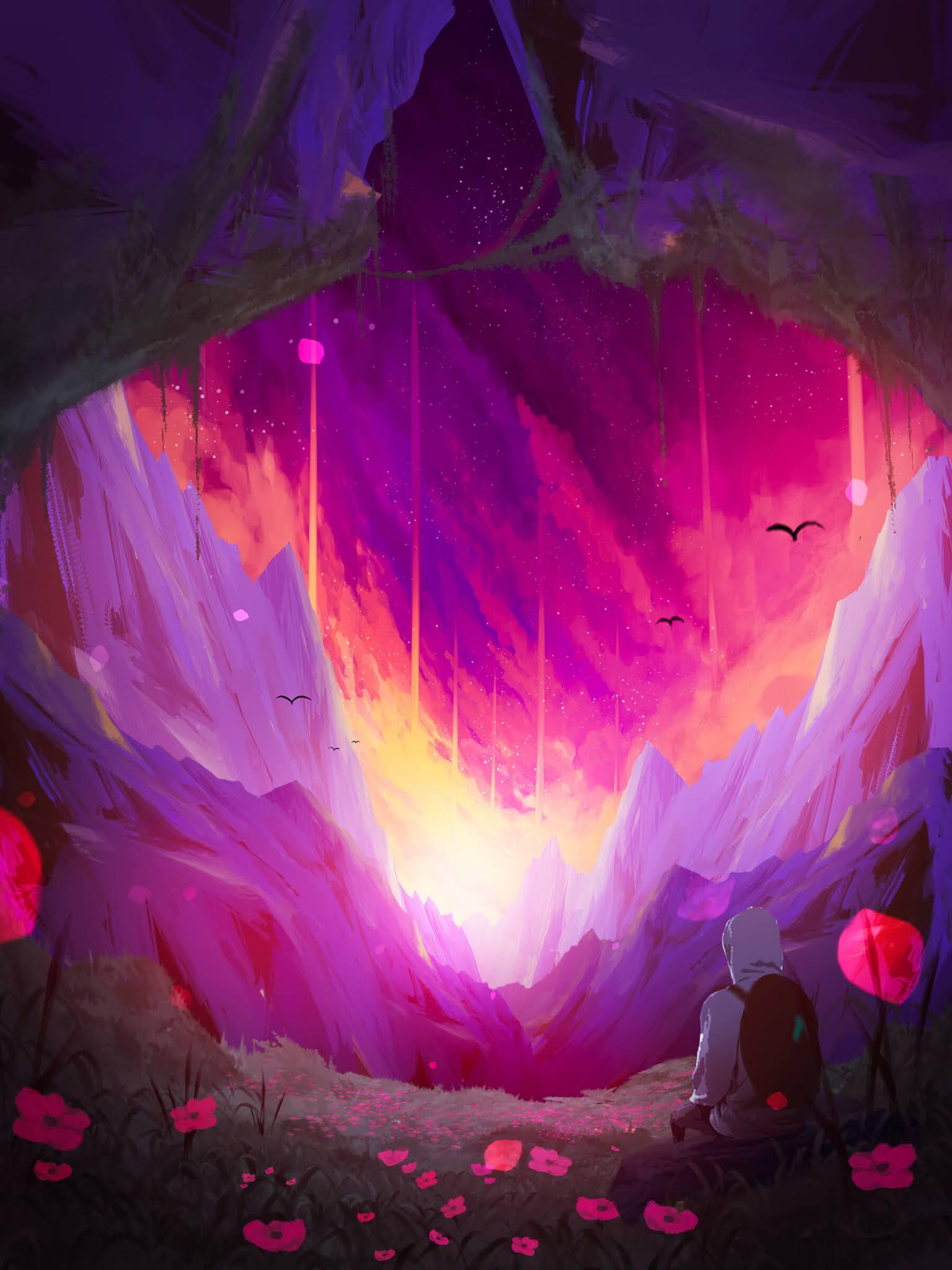 beautiful phone wallpaper purple