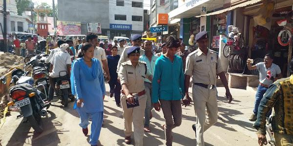 छेड़छाड़ की घटनाओं पर पुलिस का एक्शन, मनचलों का सरेबाजार निकाला जुलूस