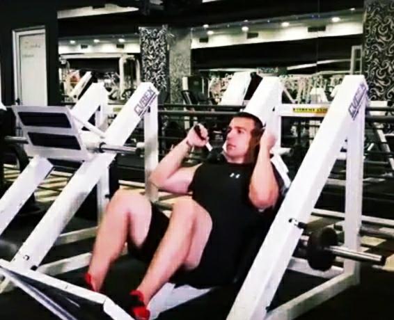 Machine Hack squats exercise