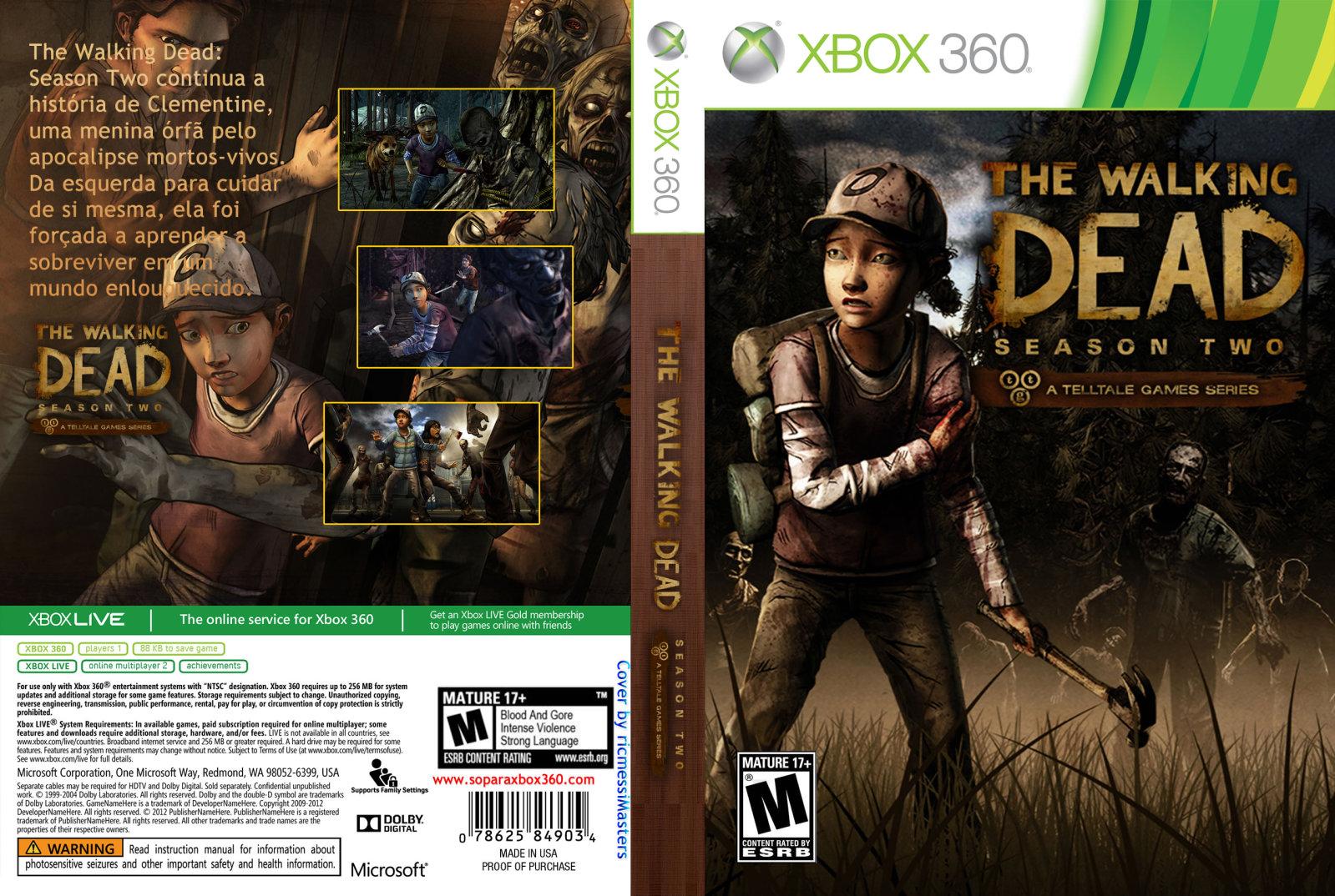 Rgh360ltu Xbox 360 The Walking Dead Season 2