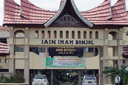 Pendaftaran Mahasiswa Baru UIN Imam Bonjol Padang Sumatera Barat 2021-2022