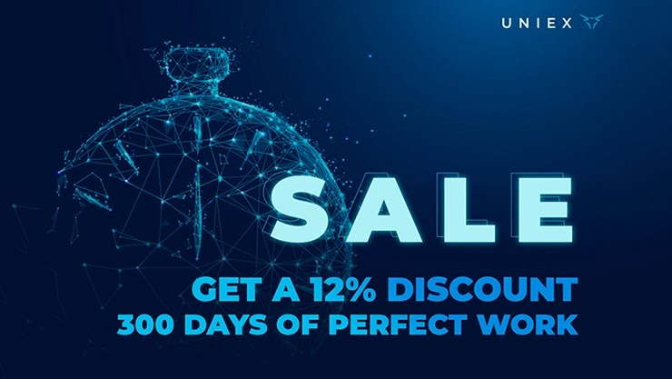 300 дней работы и скидки от Uniex