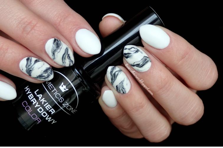 Inspiracje paznokciowe marble nails, sharm effect