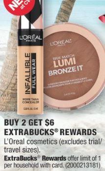 cvs couponers L'Oreal cosmetics deals