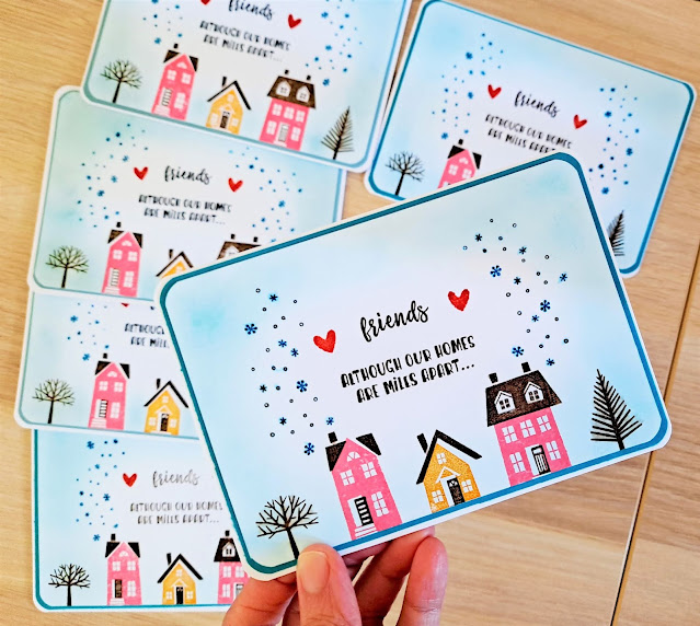 Stampin' Up! From Our House To Yours simple handmade card
