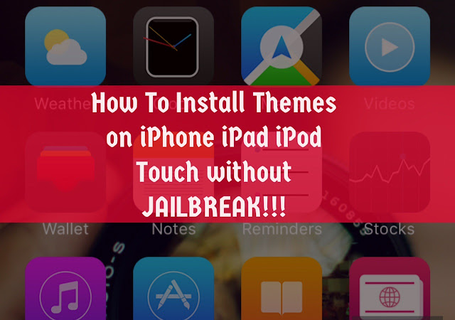 You can install tons of themes without having to Jailbreak your iPhone, iPad or iPod Touch