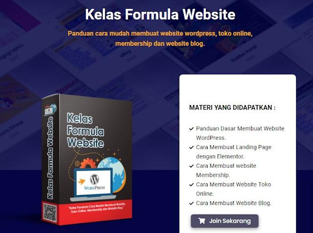 Kelas Formula Website Panduan cara mudah membuat website