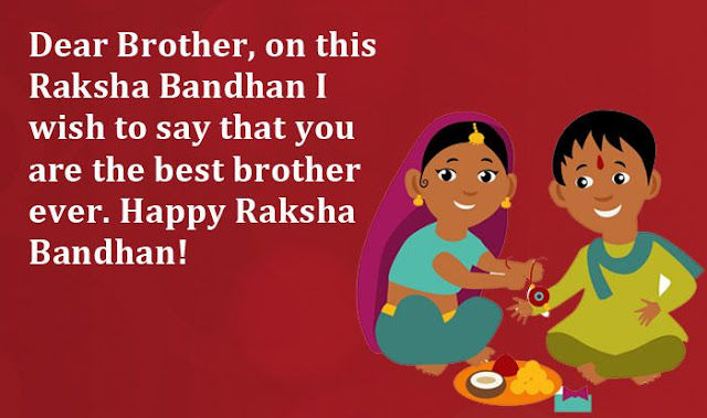 English Wishes Text with cartoon Brother & Sister