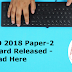 SSC CPO 2018 Paper-2 Admit Card Released for Many Regions - Download Here