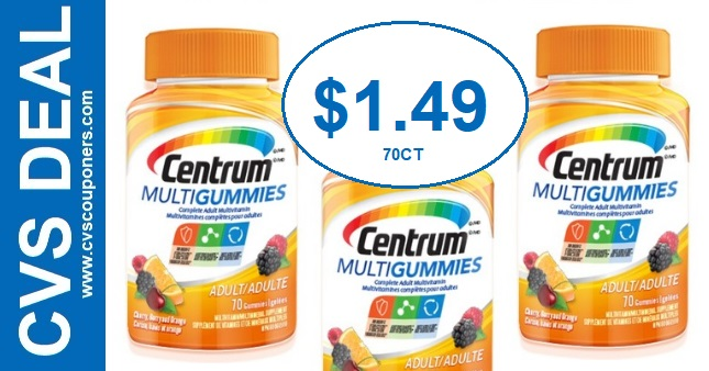 Cheap Centrum Vitamins CVS Coupon Deals 1-5-1-11