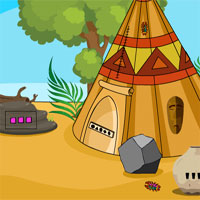 GenieFunGames Genie Tribal Hut Escape 2