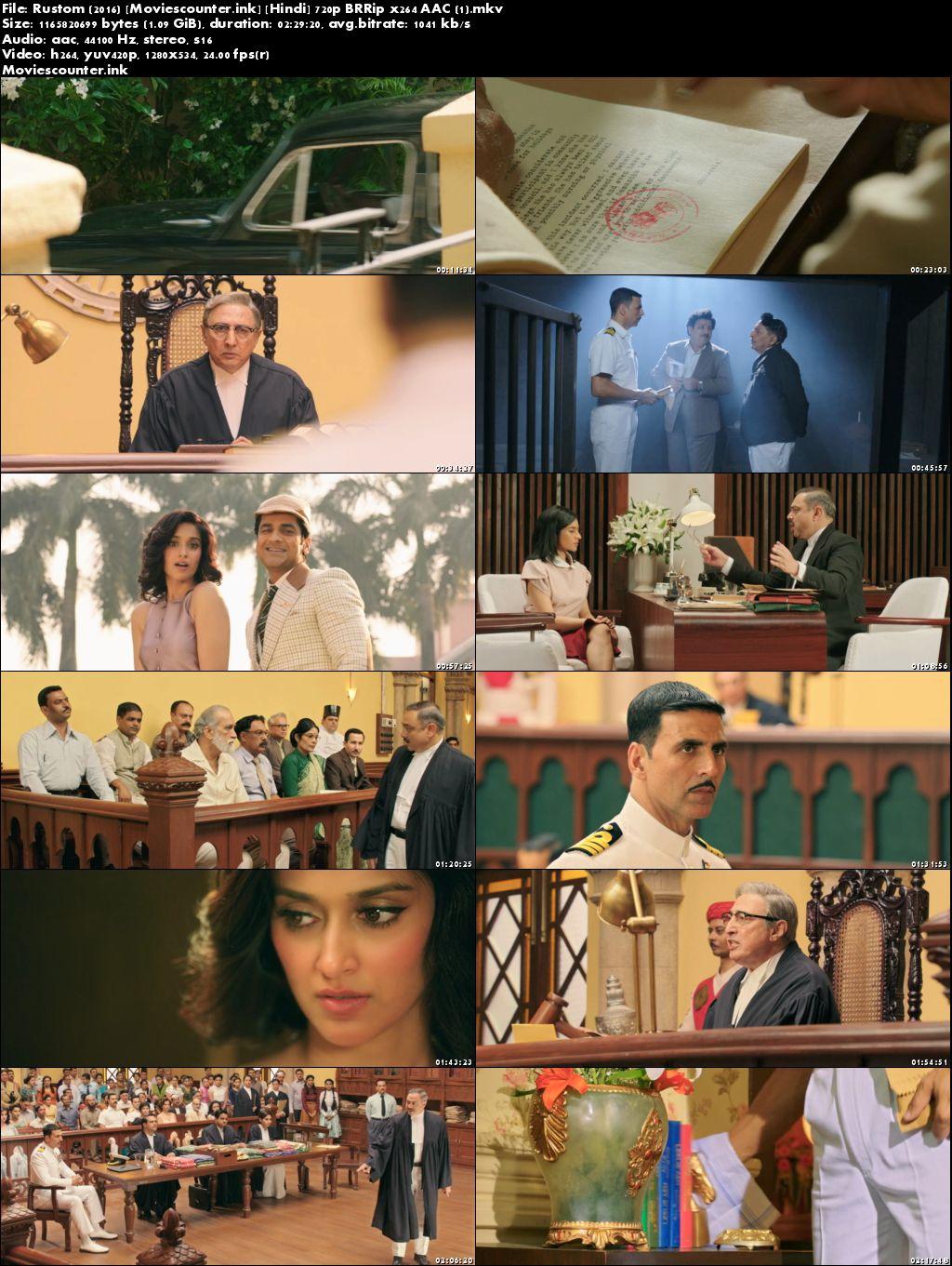 Screen Shots Rustom 2016 Hindi HD 720p