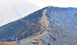 Lereng terjal di puncak gunung Ijen Banyuwangi