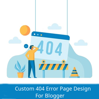 custom error page design for blogger