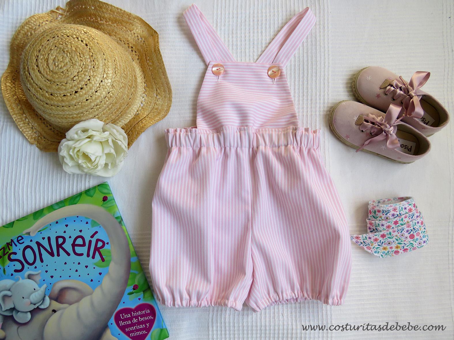 de Verano para reci/én Nacido Pijama para beb/é sin Mangas Carolilly Color Liso