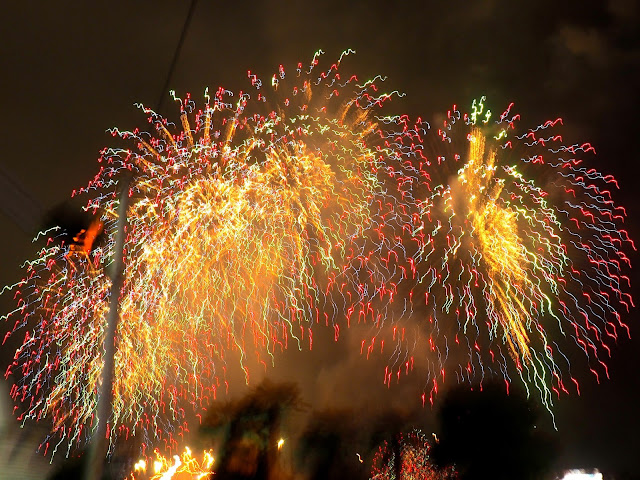 Firework explosion at the 12th Busan Firework Festival on Gwangalli Beach