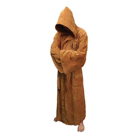 Person wearing The Order bathrobe