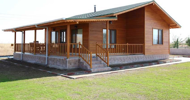 desain rumah kayu modern 2021