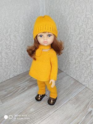 Комплект штанишки, джемпер, шапочка, шарфик