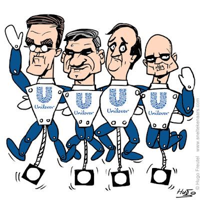 Unilever rekpop Rutte, Buma, Pechtold en Segers, verkiezingen