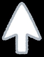 カーソルのイラスト(白・矢印)