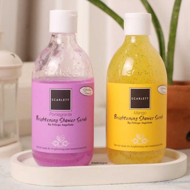review scarlett brightenng shower scrub