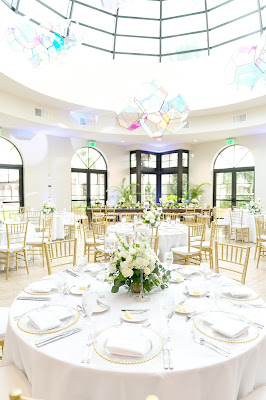 wedding reception decor at the alfond inn