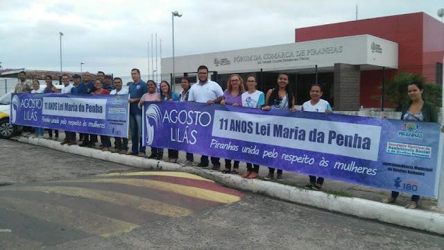 Prefeitura de Piranhas realiza Blitz para orientar sociedade sobre Agosto Lilás
