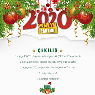 Spr Pub Eskişehir Yılbaşı Programı 2020 Menüsü