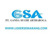 Loker Semarang Jawa Tengah Manajer Produksi dan Sales TO di PT Ganda Sugih Arthaboga
