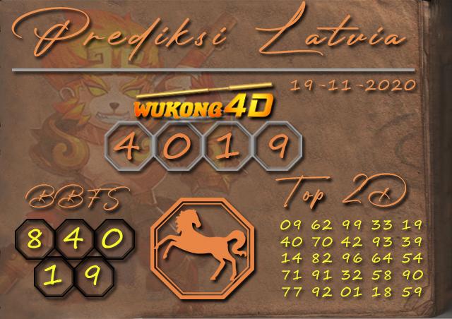 PREDIKSI TOGEL LATVIA WUKONG4D 19 NOVEMBER 2020