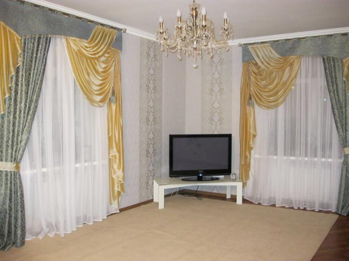 Silk And Velvet Curtain Designs For Living Room Part 23