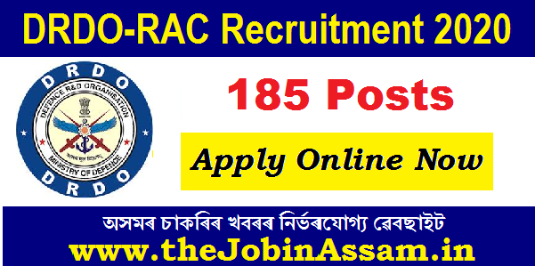 DRDO-RAC Recruitment 2020