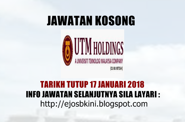 Jawatan Kosong Di Universiti Teknologi Malaysia Utm 2019 Jobcari Com Jawatan Kosong Terkini