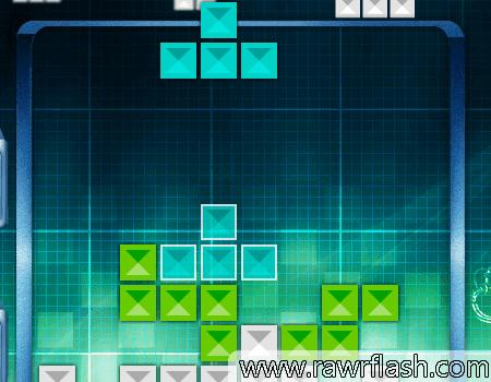 Semelhante ao tetris comum, mas com peças estranhas e formas diferentes.