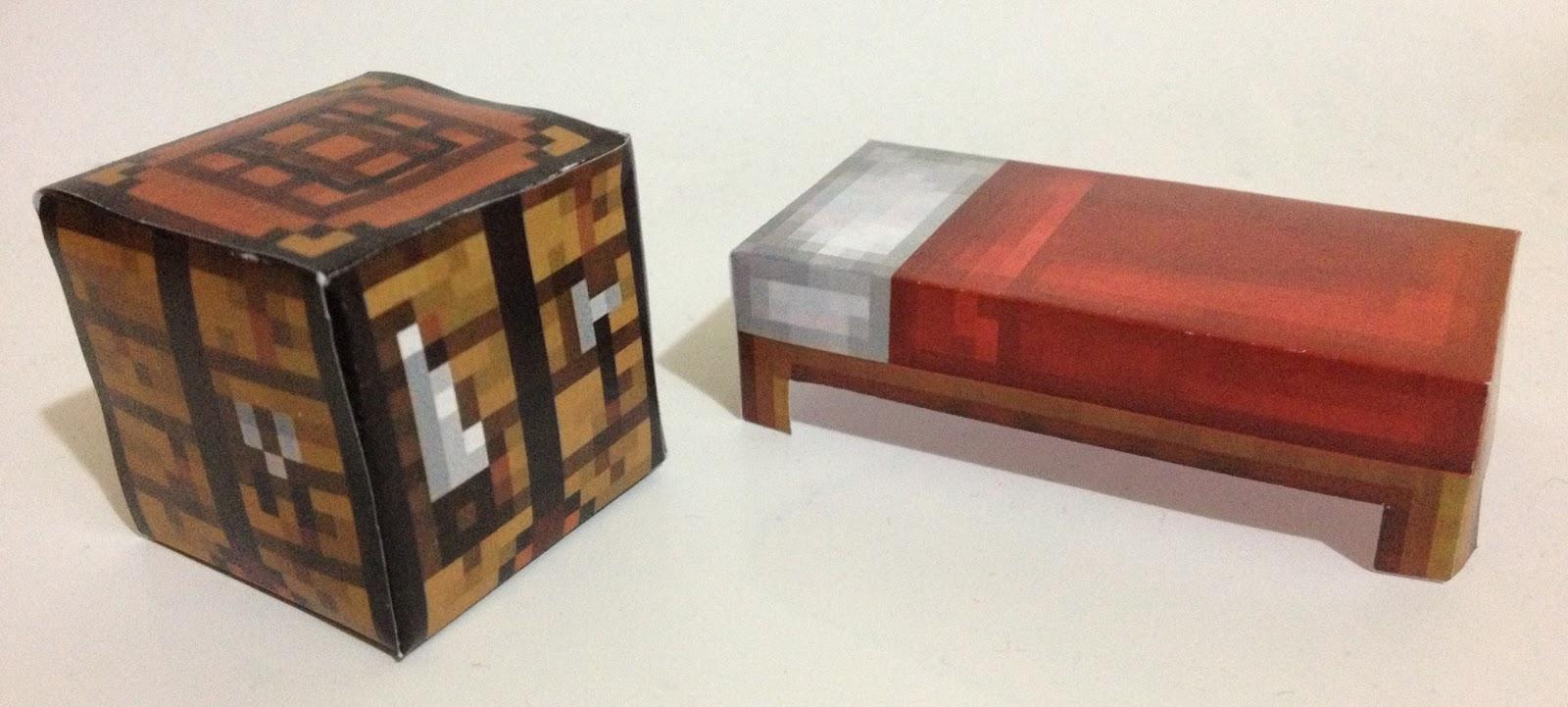 Mini at least papercraft minecraft iii mesa crafting for Cama minecraft