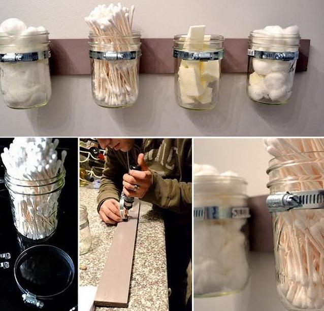 Стеклянные банки в декоре кухни