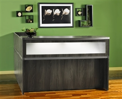 Aberdeen Gray Steel Reception Desk