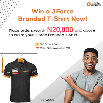 Get Steps On How To Join JForce And Win A JForce Branded Black Friday T-shirt By Jumia