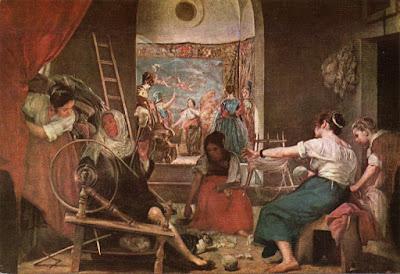Postal de Museo del Prado, Las Hilanderas, Velázquez .Editorial Artísticas OFFO
