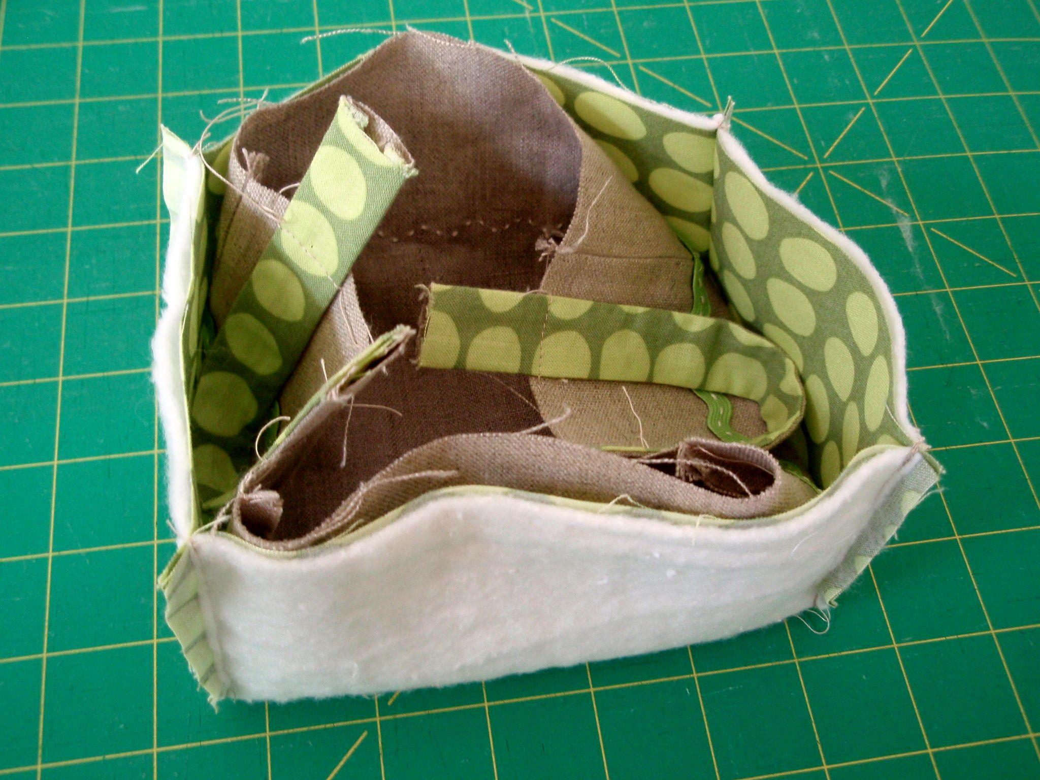 Linen Sewing Basket Tutorial